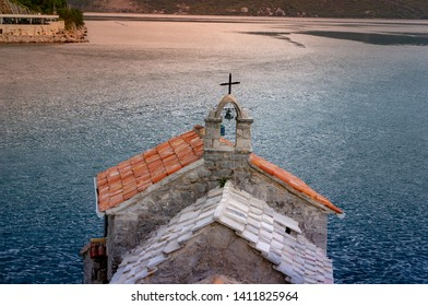 Our Lady of the Rocks Church view from Crkva Gospe od Andela. Crkva Gospe od An ela 1585g.