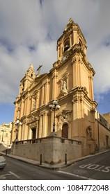 Our Lady of Sacred Heart Parish Church in Sliema (Tas-Sliema). Malta island