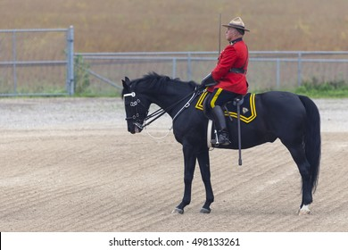 Our proud RCMP performing their Musical Ride performance at the Ancaster Fairgrounds at 630 Trinity Road in Ancaster, Ontario on September 23, 2016.