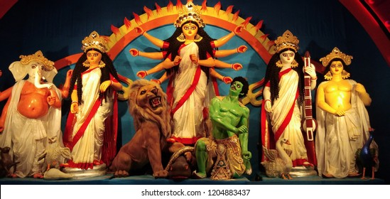 It is our religion full festival call out Durga pujo, Most of bengali peoples invented this we people are belive that Maa Durga went donw to earth to destroy or remove all bad things.
