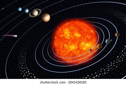 Our solar system featuring eight planets. Original from NASA. Digitally enhanced