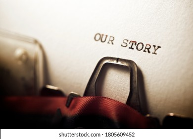 Unsere Erzählung wurde mit einer Schreibmaschine geschrieben.
