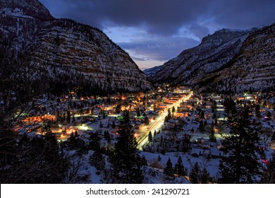 Ouray, Colorado in the evening light