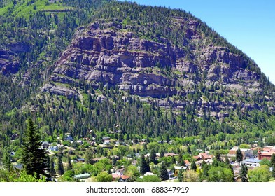 Ouray Colorado with Whitehouse Mountain