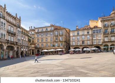 OURENSE, SPAIN - JUN 13, 2017: View of the Plaza Mayor