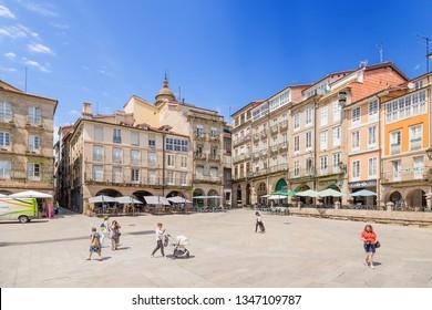OURENSE, SPAIN - JUN 13, 2017: Plaza Mayor