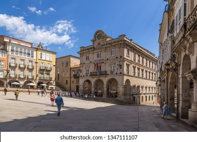 OURENSE, SPAIN - JUN 13, 2017: City Hall on the Plaza Mayor