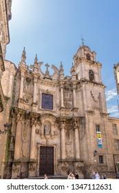 OURENSE, SPAIN - JUN 13, 2017: Church of st. Euphemia