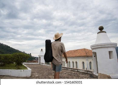 Ouro Preto, Minas Gerais, Brazil - February 25, 2016: Tourist visiting the UFOP School of Science and Technique Museum