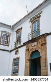Ouro Preto/Brazil – 08/04/2016: Museum of Escola de Minas, Federal University of Ouro Preto, Minas Gerais, Brazil