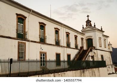 Ouro Preto/Brazil – 08/06/2016: Museum of Escola de Minas, Federal University of Ouro Preto, Minas Gerais, Brazil