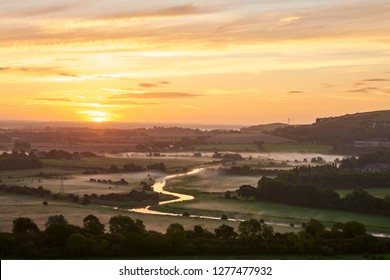 Ouse River in South Down National Part at sunrise