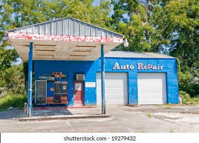 Out of business auto repair shop