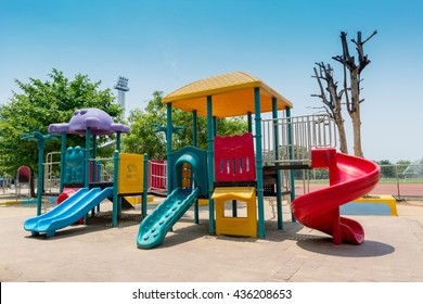 out door colorful playground for kids