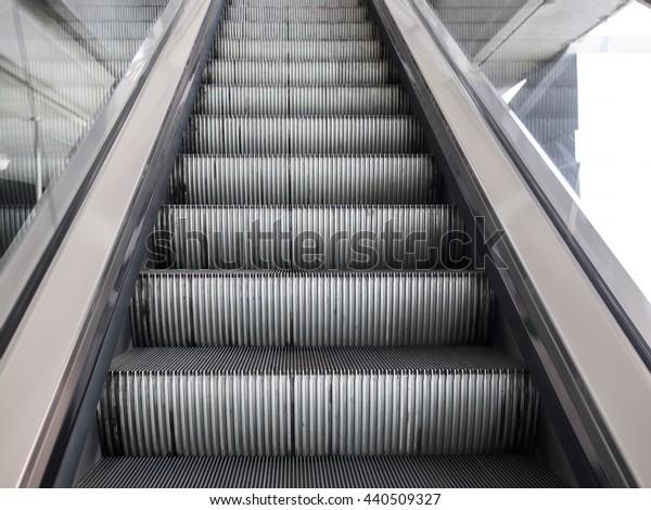 Out door escalator up