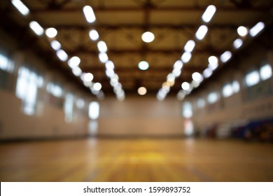 Out of focus background. Gymnasium
