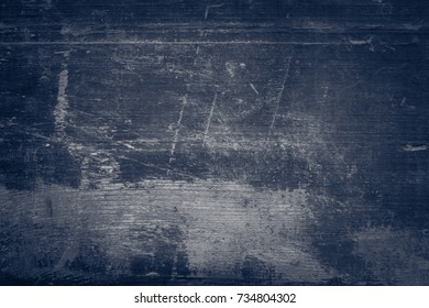 out of focus blue old wooden background