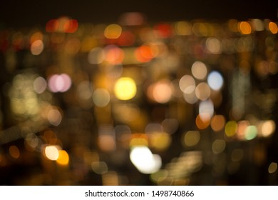 Out of focus bokeh street lights. Great for backdrop or background.