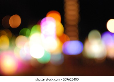 Out of Focus Carnival Lights at The Dane County Fair in Madison