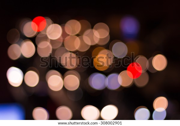 Out of Focus Lights during the Night (car light)
