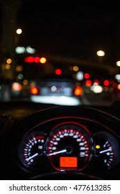Out of focus traffic and lights bokeh