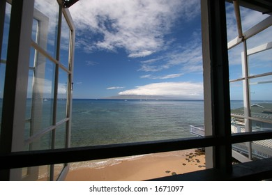 Out a window in Lahaina on Maui