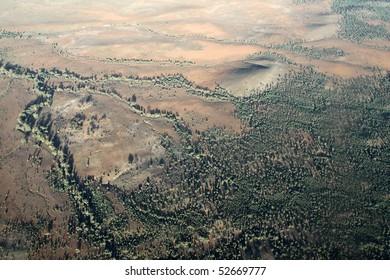 Outback Aerial View. Wilpena Pound. Australia
