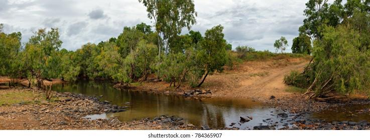 Outback river crossing, Far North Queensland, Australia