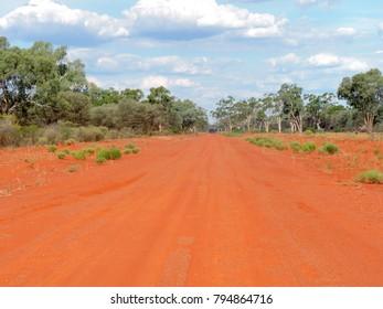 Outback Road near Bourke, New South Wales, Australia