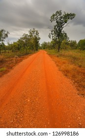 Outback road in the Northern Territory of Australia