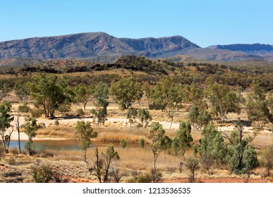 Outback Scene, West MacDonnell Ranges National Park, Northern Territory, Australia