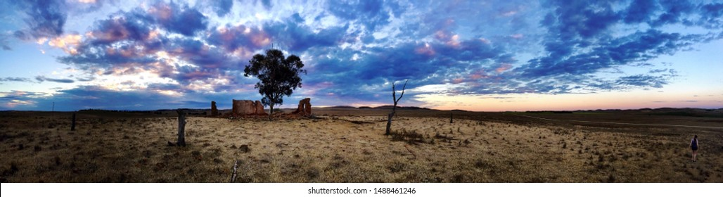 Outback Sunset Abandoned Farm Australia
