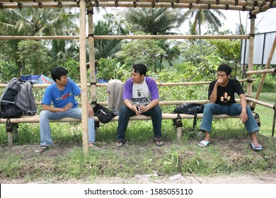 outbound training for children and adults in the Kaliurang area, Yogyakarta, April 13, 2008