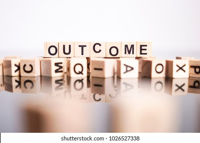 Outcome word cube on reflection
