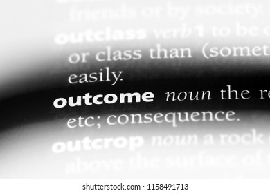 outcome word in a dictionary. outcome concept.