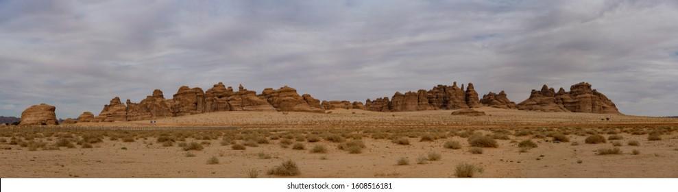 Outcrop geological formations, Al Ula in Saudi Arabia