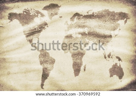 World Map Watermark.Outdated World Map Watermark On Grunge Stock Photo Edit Now