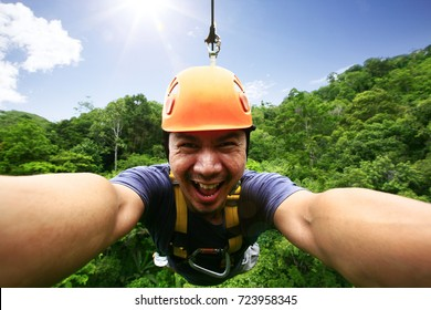 Outdoor adventure Make the experience exciting. Zipline adventure.