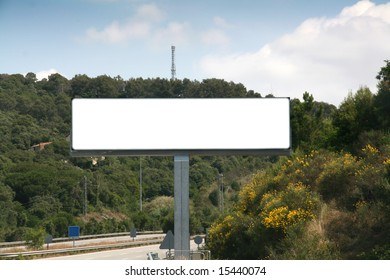 Outdoor advertising billboard, add your text or image on the empty space