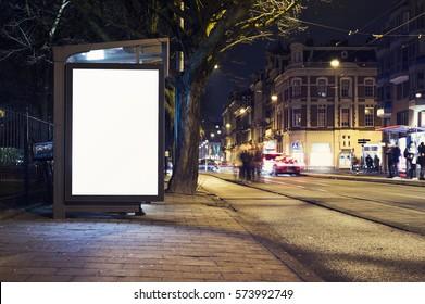 outdoor advertising billboard kiosk