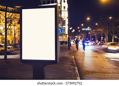 outdoor advertising billboard kiosk