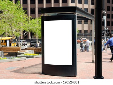 Outdoor advertising, bus shelter