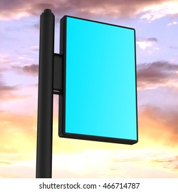 Outdoor Advertising Displays. Rolling Poster Display. Advertising Industry Object. 3D Illustration