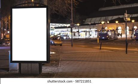 outdoor advertising kiosk template