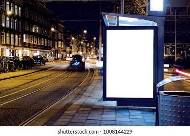 Une maquette publicitaire extérieure