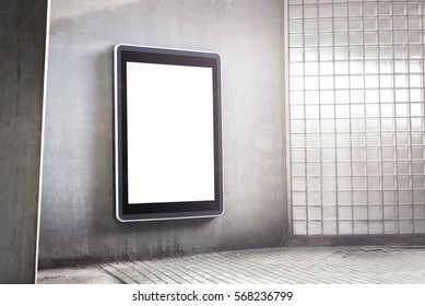 Outdoor advertising mockup kiosk