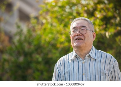 Outdoor Asian senior male