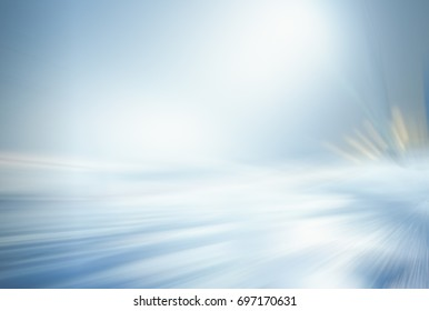 OUTDOOR BACKGROUND, FROSTY WINTER AT NIGHT, ILLUMINATED ROAD, COLD BLURRY LIGHTS, WHITE AND BLUE ABSTRACT BRIGHT BACKGROUND