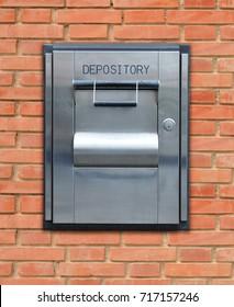 Outdoor Bank Depository brick wall