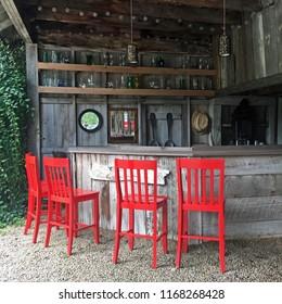Outdoor Bar on a farm, North Carolina